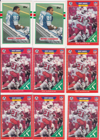 Barry Sanders Lot of 9