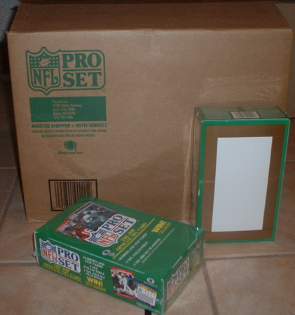 1990 Pro Set wax box case 2