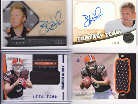 Brandon Weeden Lot of 4