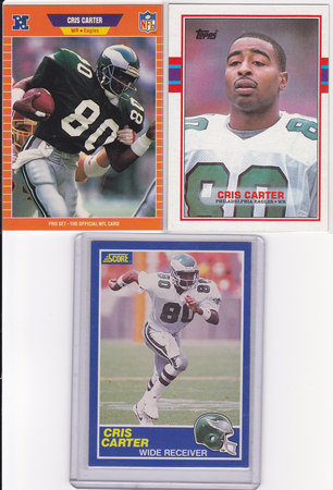 Cris Carter rookie lot