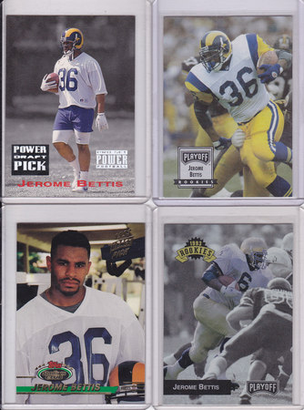 Jerome Bettis rookie lot