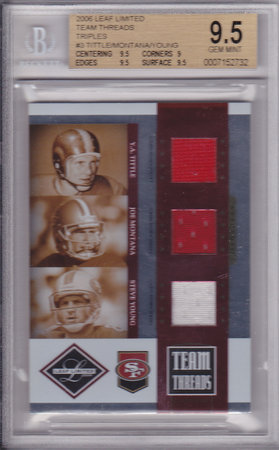 Y.A. Tittle, Joe Montana, Steve Young