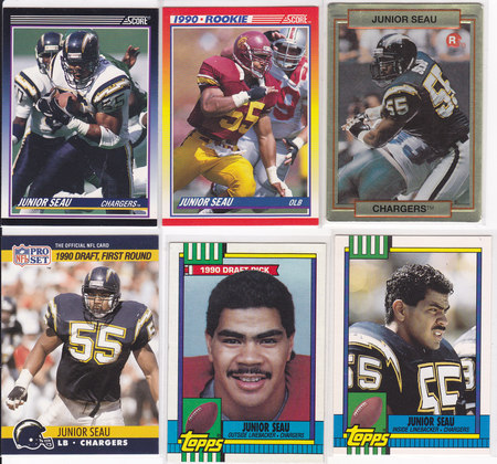 Junior Seau rookie lot 6