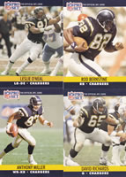 1990 Lot San Diego Chargers