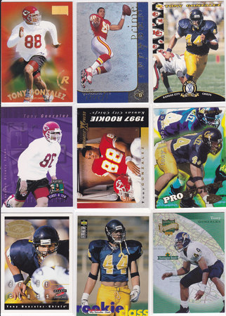Tony Gonzalez rookie lot