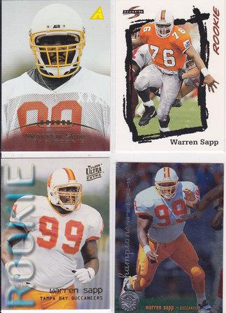 Warren Sapp rookie lot 4