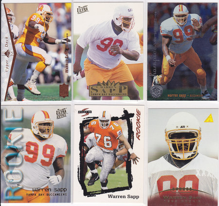 Warren Sapp rookie lot 6