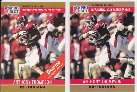 1990 ProSet Anthony Thompson