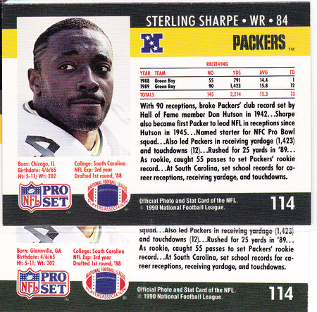 1990 ProSet Sterling Sharpe