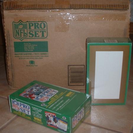 1990 Pro Set wax box case 1