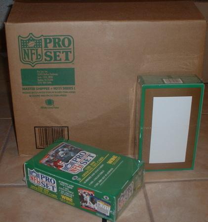 1990 Pro Set wax box case 2