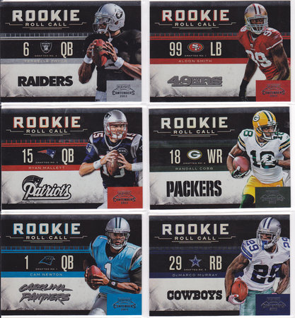 Playoff Contenders Rookie Roll Call Set
