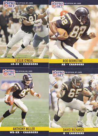 Lot San Diego Chargers